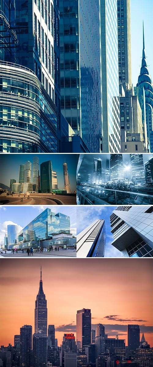 Stock Photo High-rise buildings