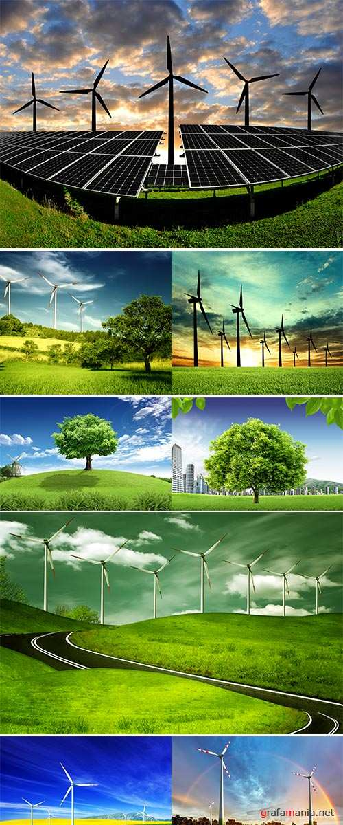Stock Photo Eco power in nature landscape