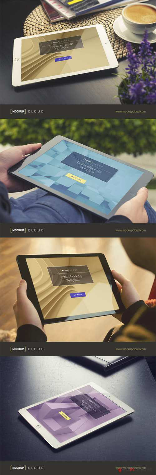 Real Photo Tablet Mock-Up