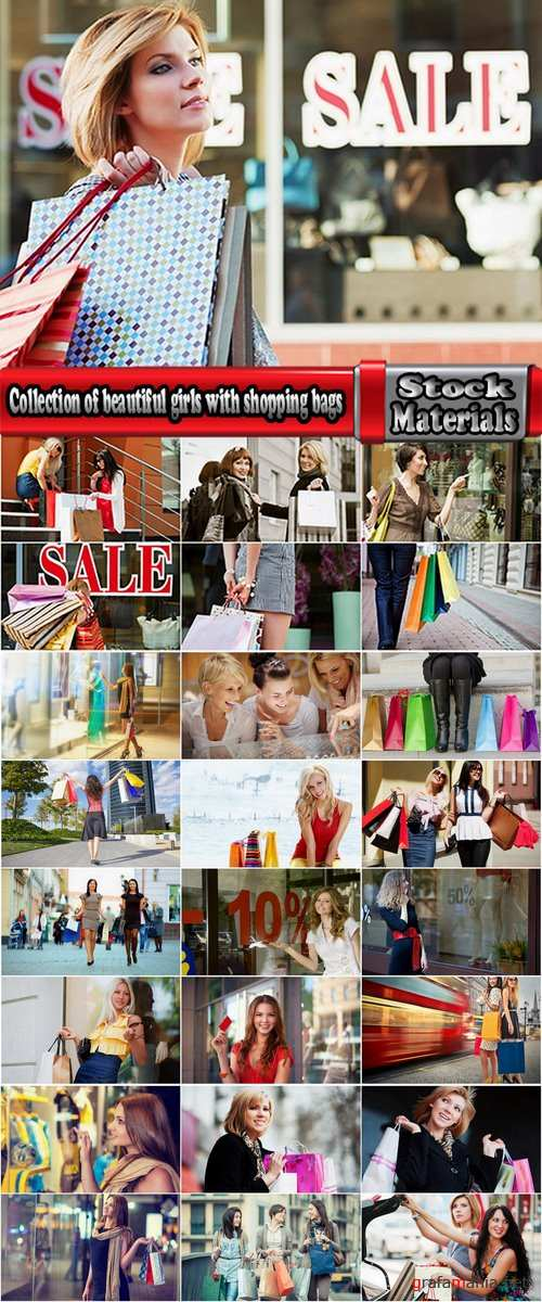 Collection of beautiful girls with shopping bags #2-25 HQ Jpeg