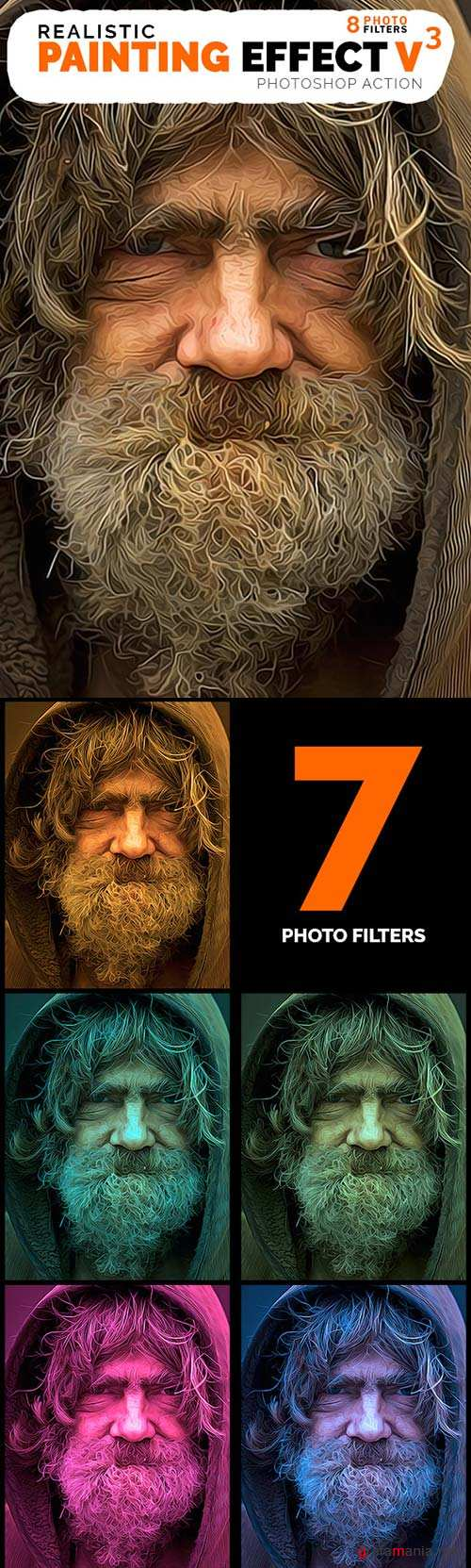 GraphicRiver Realistic Painting V3 - Photoshop Action