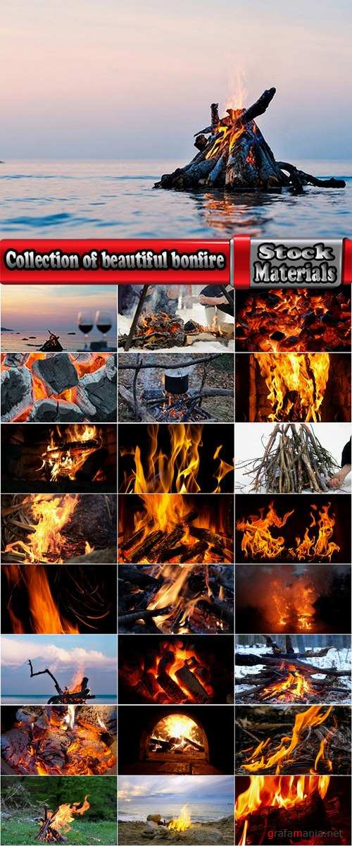 Collection of beautiful bonfire on various natural landscape 25 HQ Jpeg