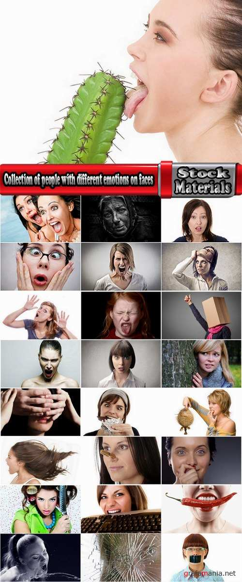 Collection of people with different emotions on faces 25 HQ Jpeg