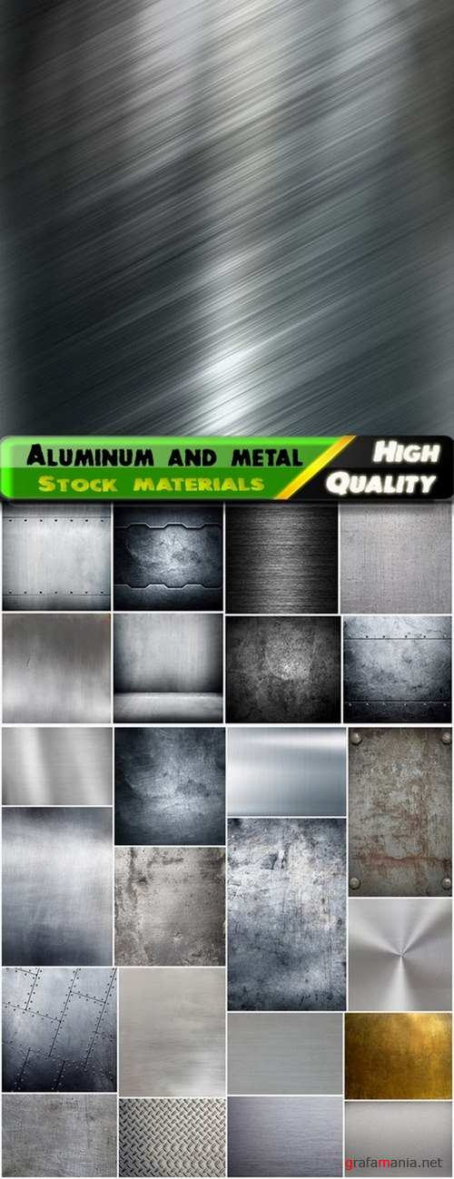 Textures and backgrounds aluminum and metal - 25 HQ Jpg