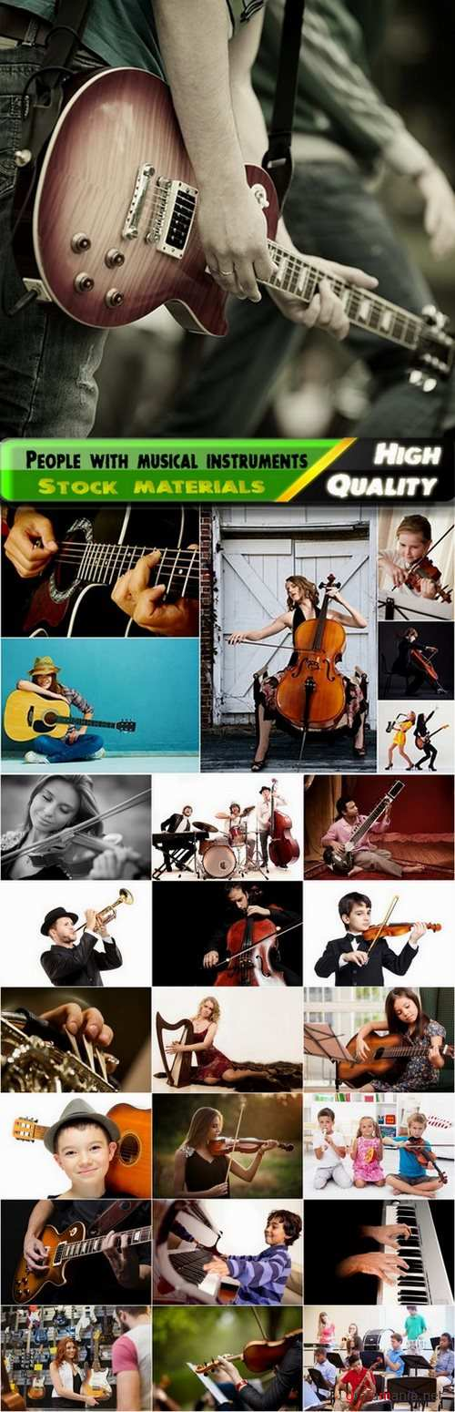 People with musical instruments Stock images - 25 HQ Jpg