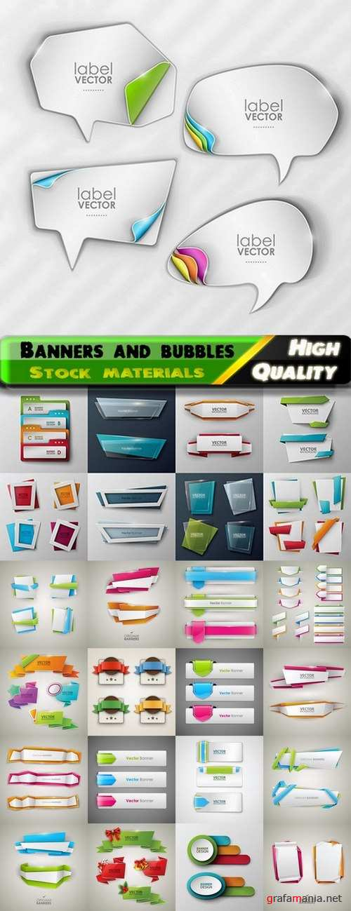 Abstract banners and bubbles wit places for text - 25 Eps