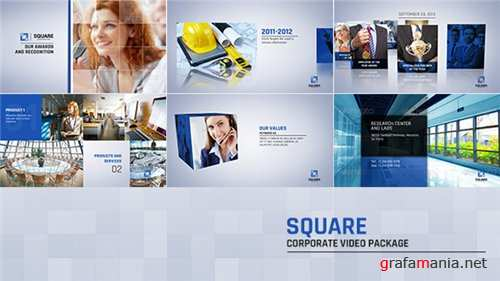 Square Corporate Video Package - After Effects Project (Videohive)