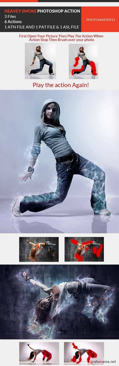 Heavy Smoke Effect Photoshop Actions - Graphicriver 10502977