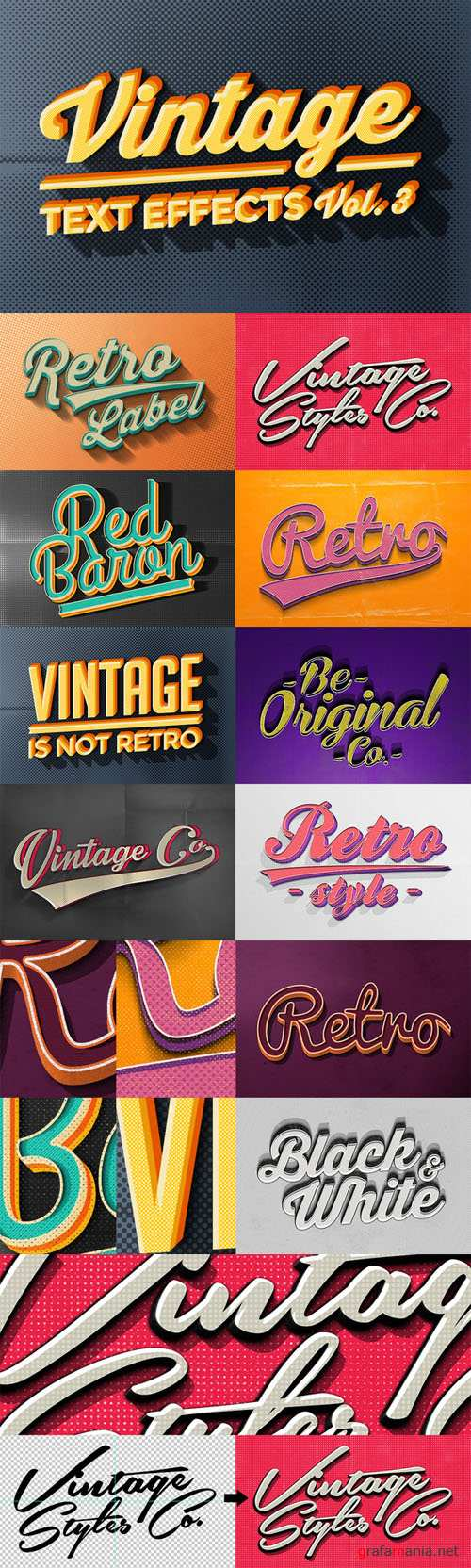 Vintage Text Effects Vol.3 - CM 67096