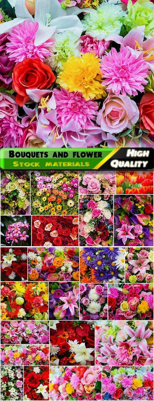 Bouquets and flower buds and floral backgrounds - 25 HQ Jpg