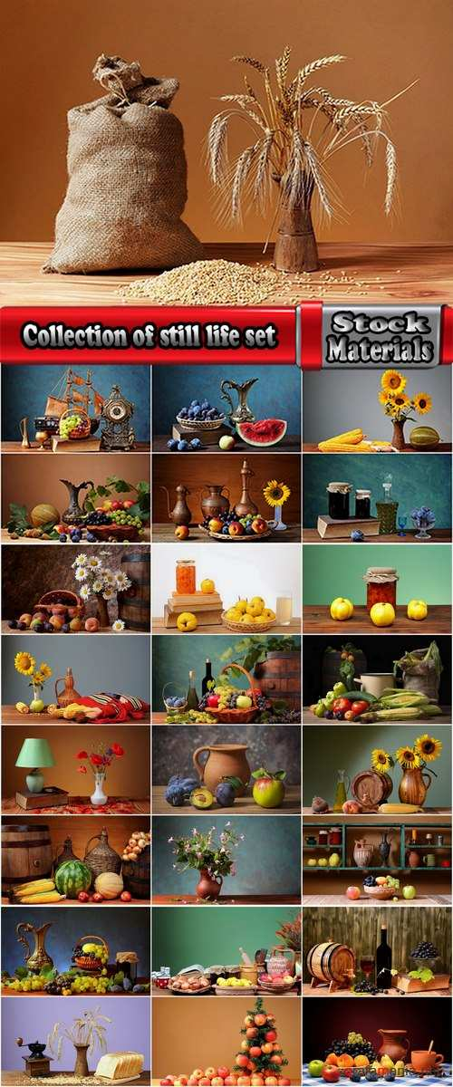 Collection of still life set #4-25 UHQ Jpeg