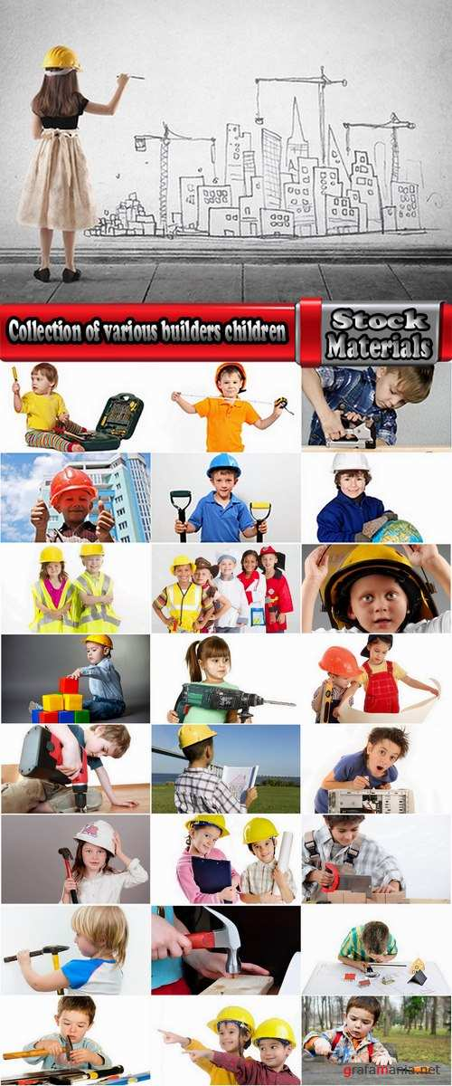 Collection of various builders children and children of different professions 25 HQ Jpeg