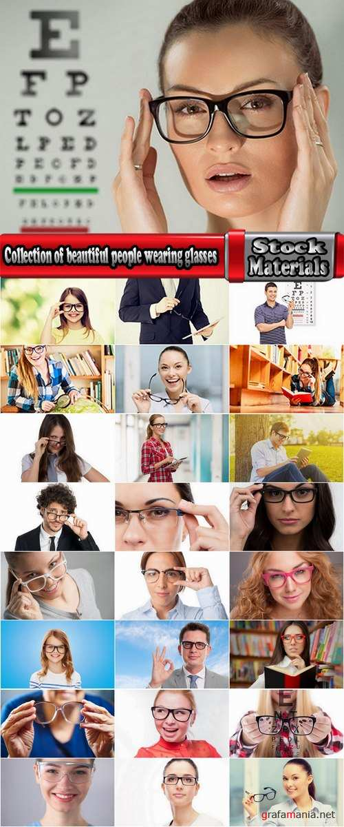 Collection of beautiful people wearing glasses to improve eyesight 25 HQ Jpeg