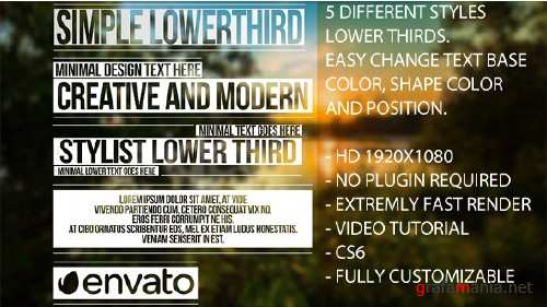 VideoHive - Simple Lower Thirds 10399158