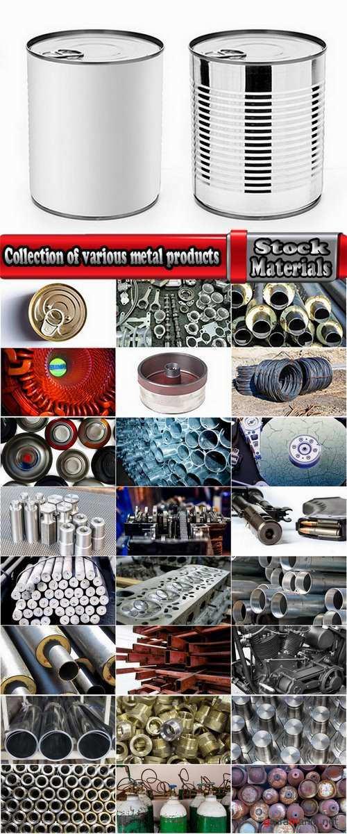 Collection of various metal products nut pipe gas cylinder engine tin 25 HQ Jpeg