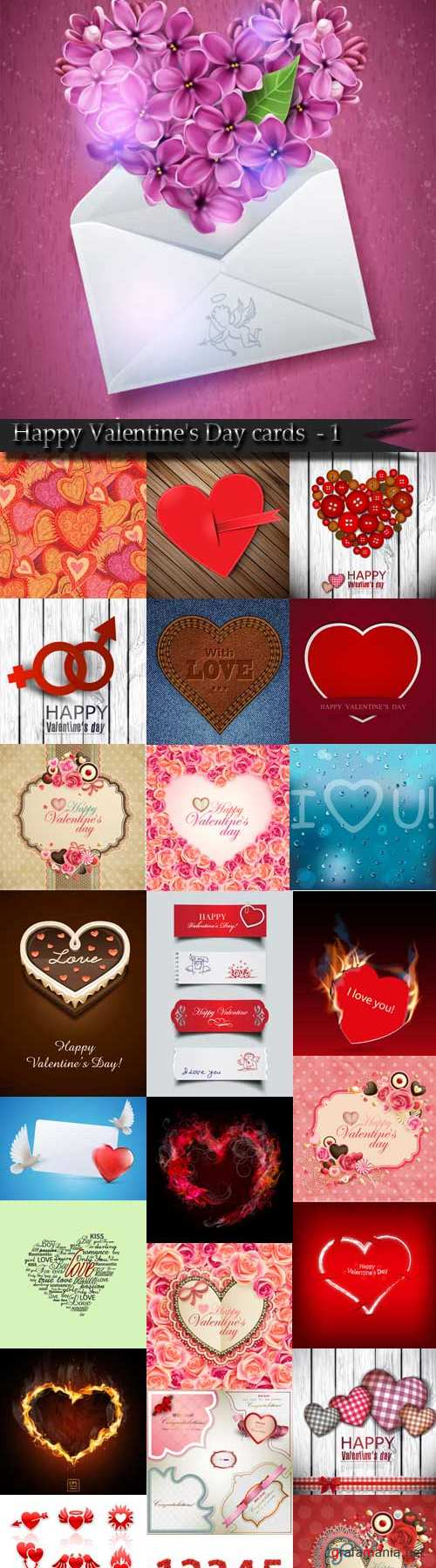 Happy Valentine's Day cards and backgrounds - 1