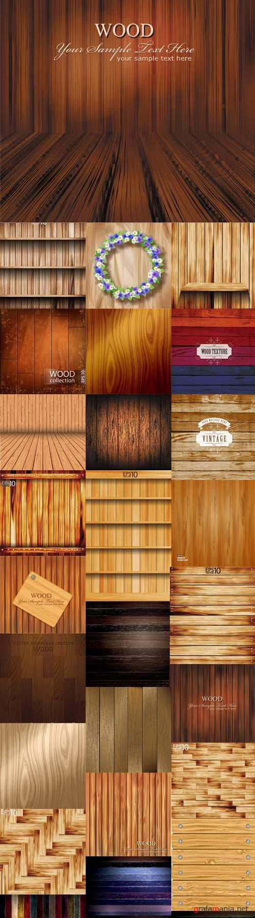 Noble wooden backgrounds vector