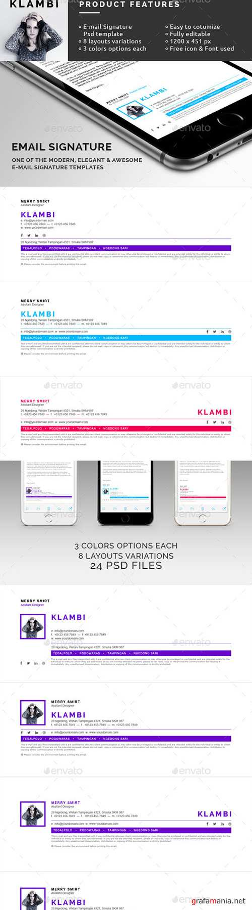 GraphicRiver - eMail Signature 10246384