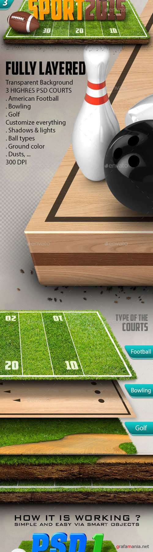 3D Logos on the Courts Mockup Vol.2 - Graphicriver 10436247