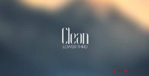VideoHive - Clean Lower Third 10338608