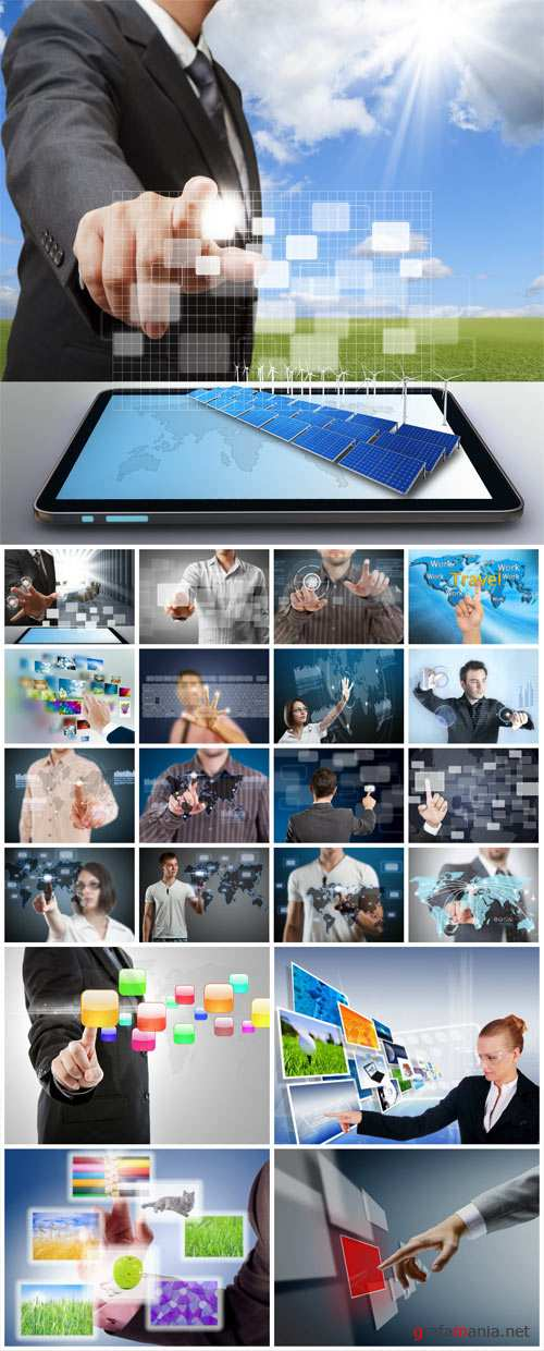 People and modern technology - collection of stock photos