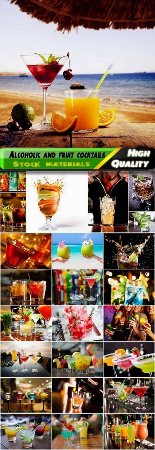 Alcoholic and fruit cocktails Stock images - 25 HQ Jpg
