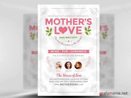 Mothers Love Flyer Template