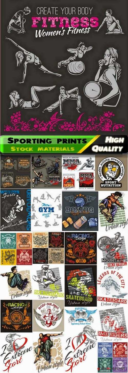 Sporting prints and emblems and logos - 25 Eps