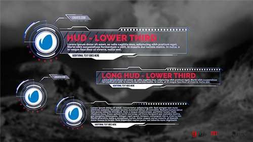 HUD - Lower Thirds - After Effects Project (Videohive)