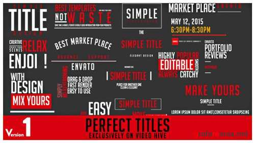 Perfect Titles - After Effects Project (Videohive)