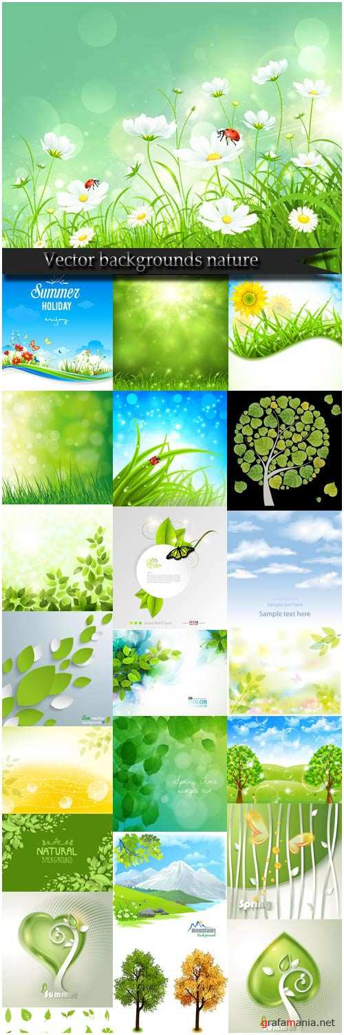 Vector backgrounds nature