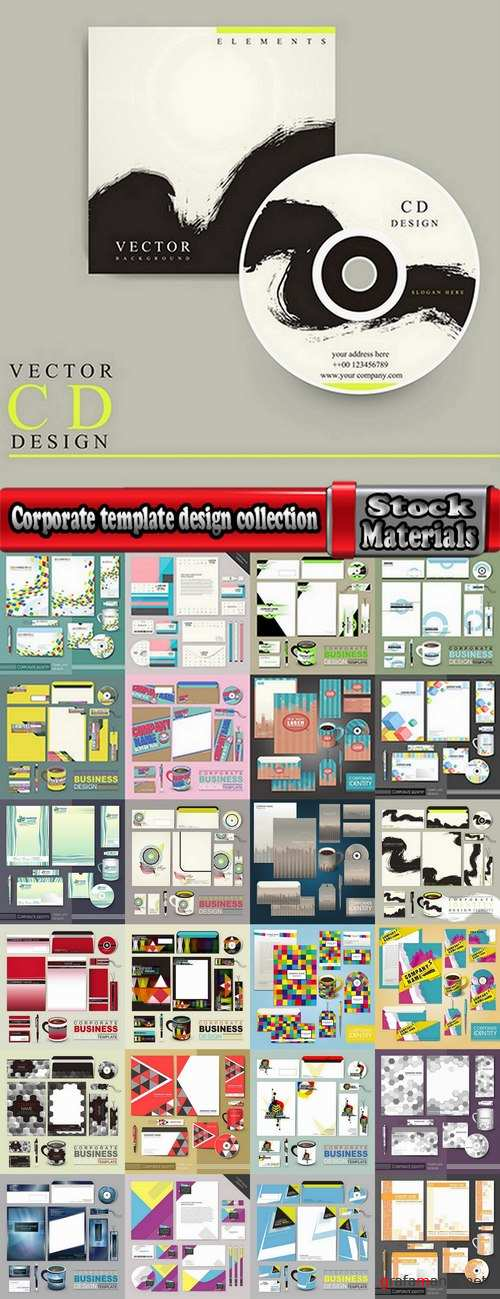 Corporate template design collection #4-25 Eps