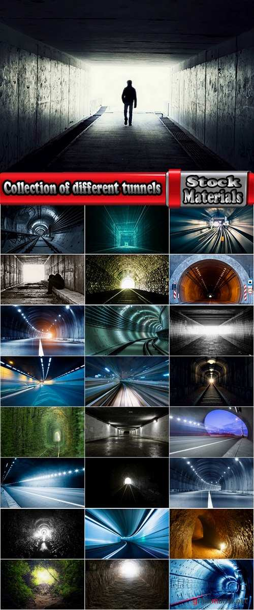 Collection of different tunnels 25 HQ Jpeg