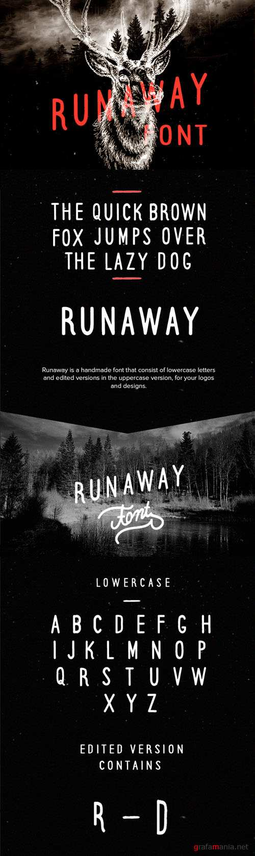 Runaway Retro/Vintage Hand Drawn Custom Font