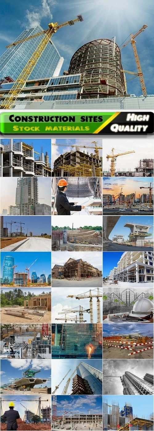 Construction site with unfinished buildings - 25 HQ Jpg