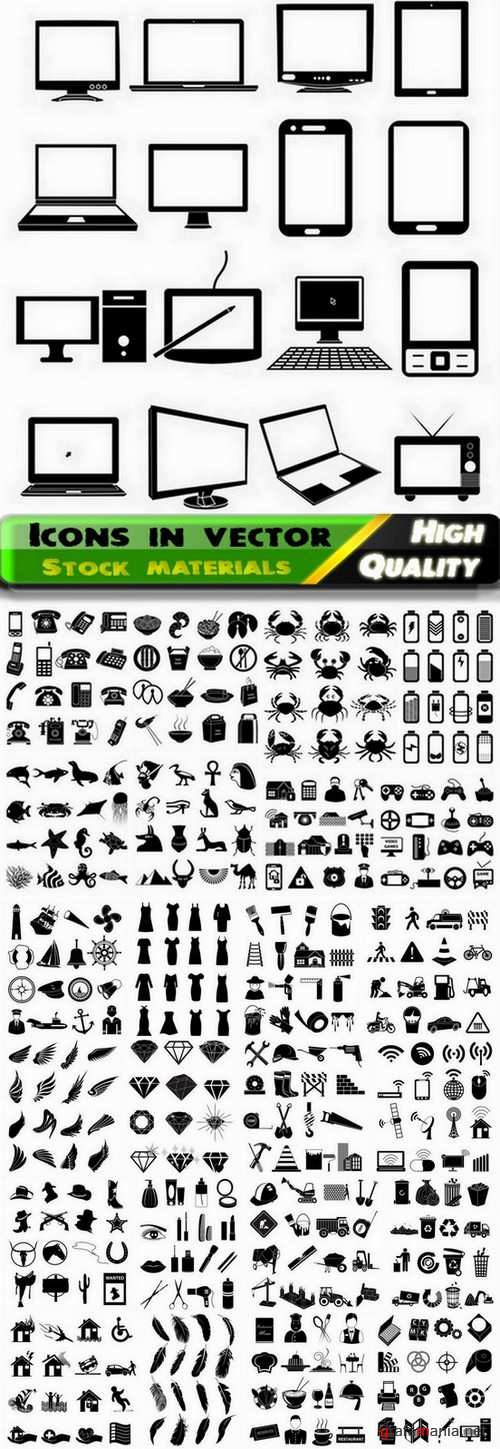 Icons in vector Set from stock #31 - 25 Eps