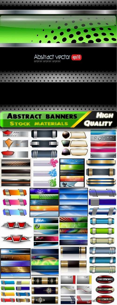 Abstract banners for web design and advertising - 25 Eps