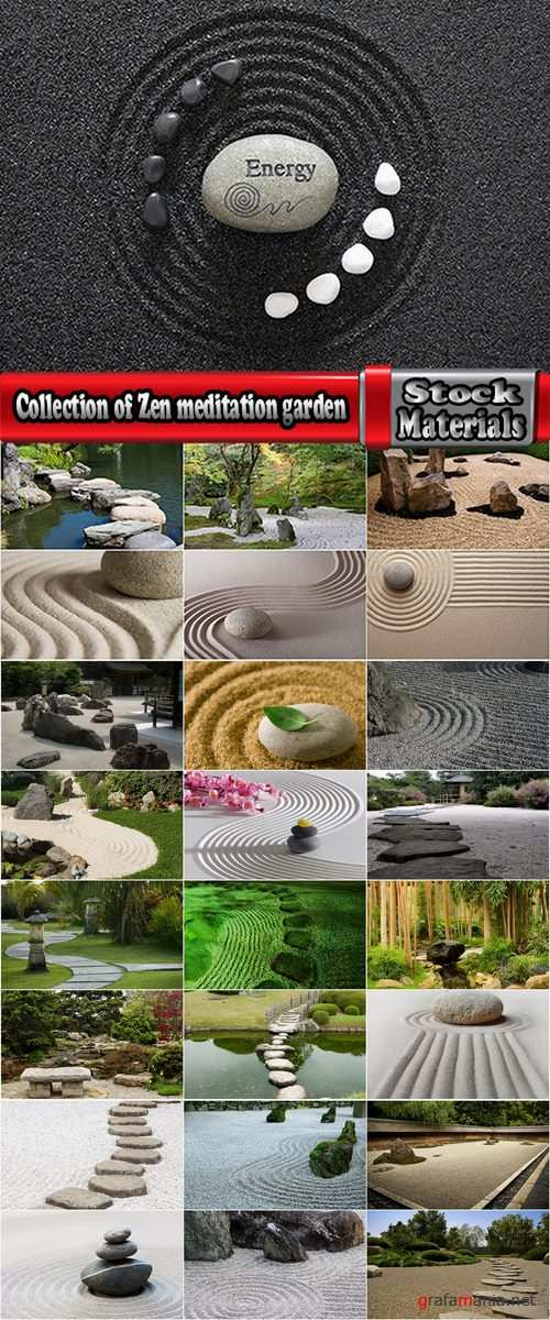Collection of Zen meditation garden Japanese stone sand 25 HQ Jpeg