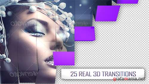25 3D Transitions Pack - Project for After Effects (Videohive)