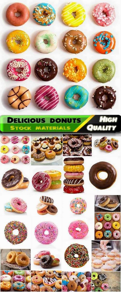 Sweet delicious donuts in glaze - 25 HQ Jpg