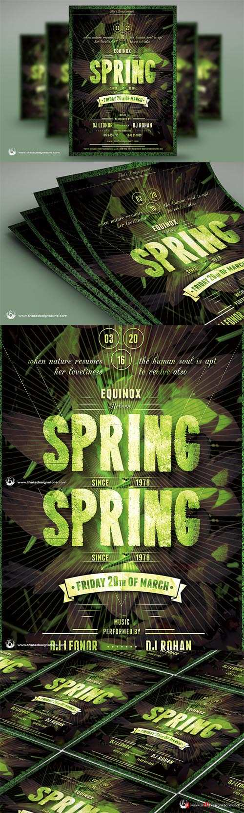 CM - Spring Equinox Flyer Template 216392