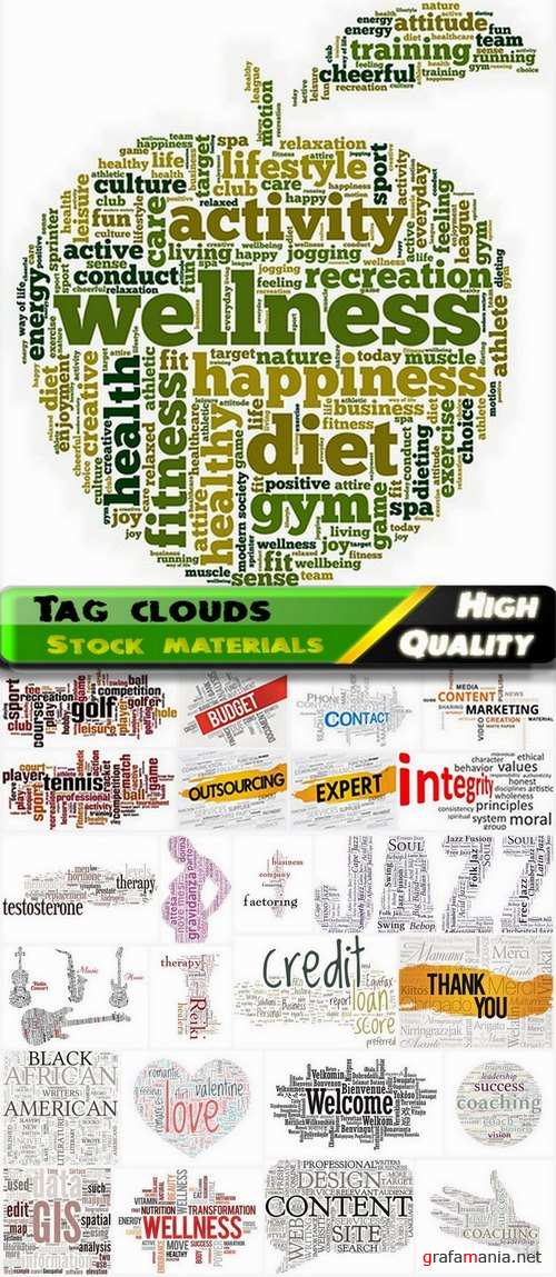 Tag cloud of different words for business 2 - 25 Eps