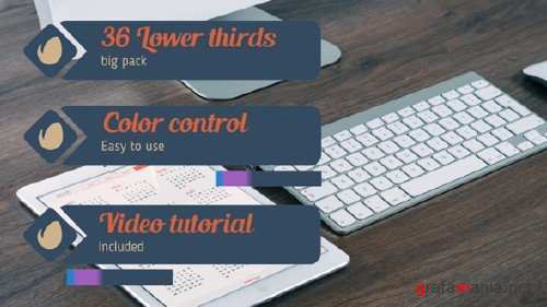 36 Lower Thirds Pack - After Effects Project (Videohive)