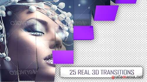 25 3D Transitions Pack - After Effects Project (Videohive)