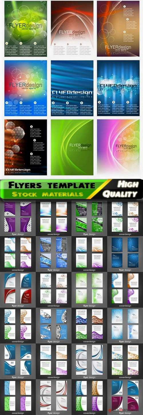 Flyers template design collection in vector from stock #61 - 25 Eps