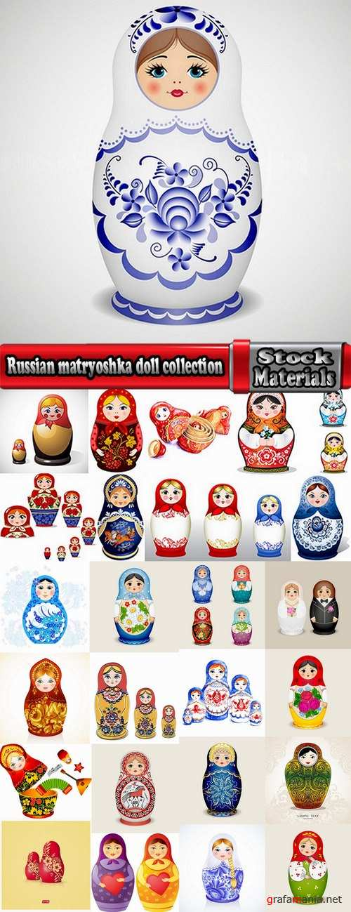 Russian matryoshka doll collection 25 Eps