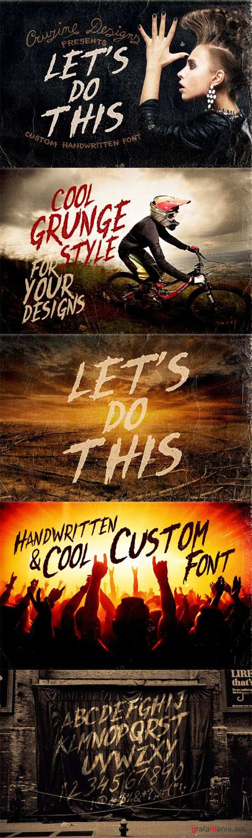 Let's Do This Custom Font - Creativemarket 75564