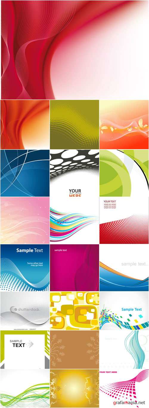 Abstract patterns backgrounds stock vector - 3