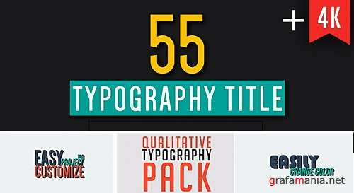 55 Qualitative Typography - After Effects Project (Videohive)