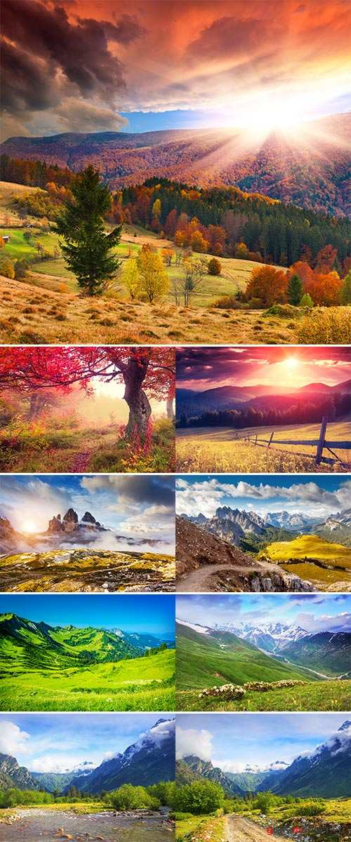 Stock Photo: Beautiful places of nature 2